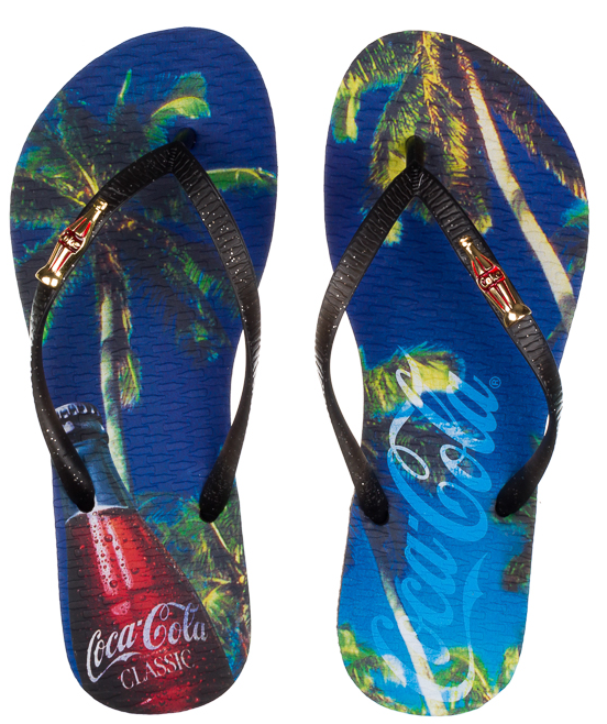 677283f99 Calcebel Chinelo Coca Cola Tropical Bottle Cc2579 - FEMININO