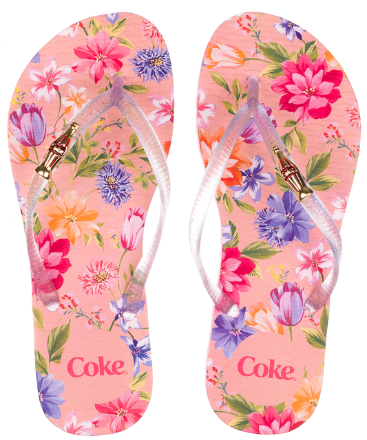 cb4654e666 Calcebel Chinelo Coca Cola Blooming Cc2578 - FEMININO