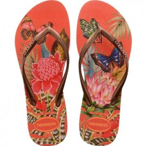 3276e5b84 Chinelo Havaianas Slim Tropical