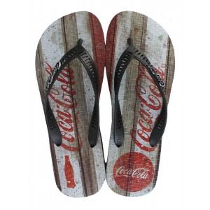 Chinelo Coca Cola Coke Retro Wood Cc2505
